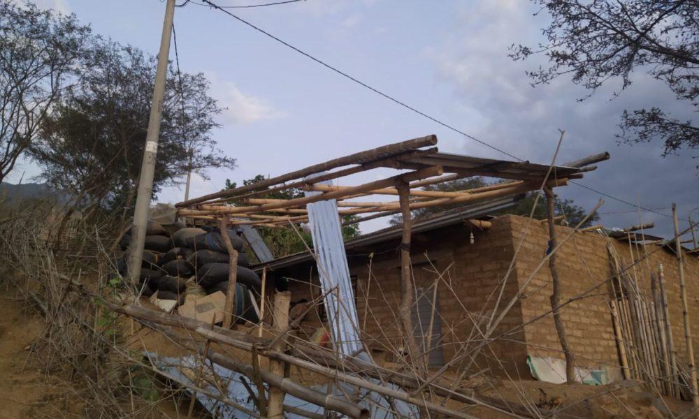 LAMBAYEQUE: Vientos fuertes causan daños en 30 viviendas de distrito de Oyotún