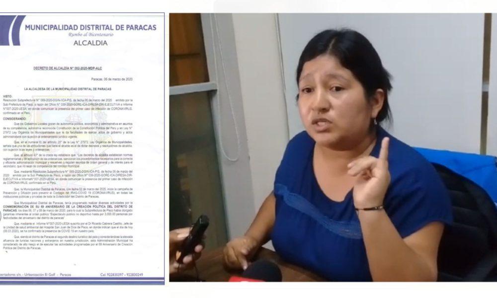 Prohíben espectáculos públicos en Paracas, para evitar propagación del Coronavirus.