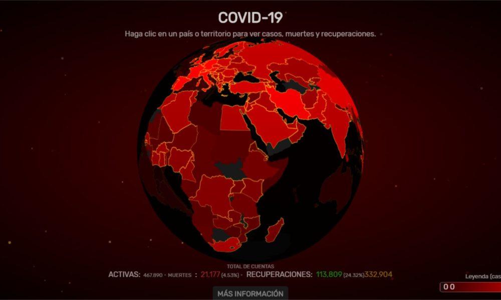 Worldometers: información interactiva del COVID – 19