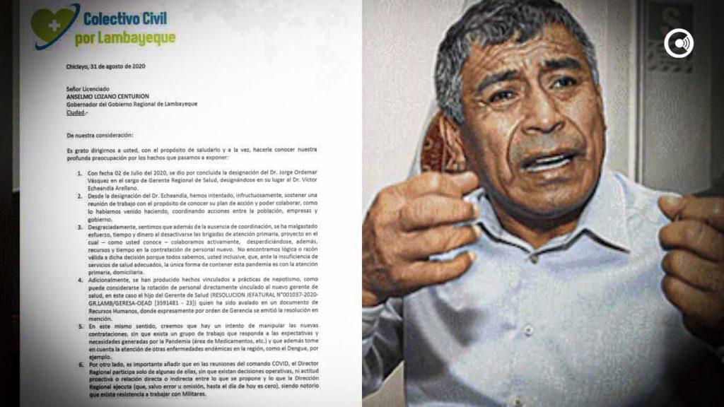 """Otra más de Carlos Burgos: Dice no tener pruebas de lo que denunció su """"Colectivo Lambayeque"""""""